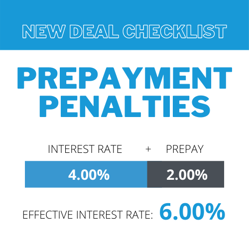 New Deal Checklist: Prepayments (as an Effective Interest Rate)